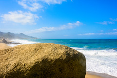 Entrada al Parque Nacional Natural Tayrona (feliperodríguez1) Tags: sea océano caribe mar water sky blue