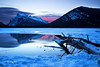 Rundle Mtn Dawn (Canon Queen Rocks (1,230,000 + views)) Tags: reflections landscape lake vermillionlakes sky scenery scenic clouds colours reds branches ice winter snow frozen mountains mountainpeak snowcapped banffnationalpark nature nationalpark canada alberta