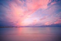 Skyscape (icemanphotos) Tags: seascape holiday travel solitude sky blue sunbeds