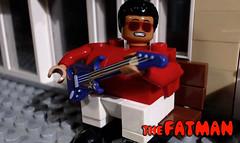 THE FATMAN brickfilm... (woodrowvillage) Tags: lego mini figure minifigure fat man fatman fats domino robbie robertson carny movie freak side show guitar moc custom build legos bricks film brickfilm animation comedy obesity obese blues singer