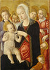 Matteo di Giovanni — Madonna and Child with Angels and Cherubim, c. 1460-65. Painting: Tempera on panel, 33 x 24 in. Andrew W. Mellon Collection of The National Gallery of Art, Washington, D.C. Uh, I could really do without those cherubim. The angels don' (ArtAppreciated) Tags: fineart painting blogs tumblr artblogs artappreciated artoftheday artofdarkness artofdarknessco artofdarknessblog matteo di giovanni 1460s date1465 date1460 quattrocento italian renaissance 15th century art madonna child mother baby history beauty delicate motherhood maternity babies faves queen heaven enthroned cherubim sienese school washingtondc