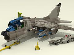 Vought A-7K Corsair II (rx79gez8gundam) Tags: lego a7 corsair vought