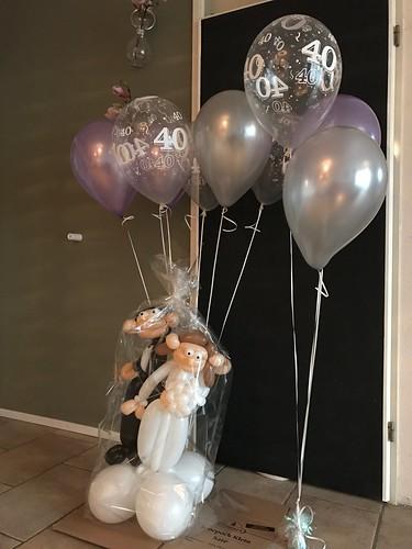 Ballondecoratie 40 Jaar Getrouwd