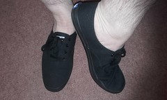 Plimsolls of the day 67- All black canvas Keds (eurimcoplimsoll) Tags: plimsolls plimsoles gym shoes canvas sneakers keds trainers