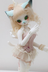 Aileen Doll Polymorph Lucy (Damasquerade) Tags: bjd aileendoll polymorph lucy anthro cat wings tail ears momoko clothes outfit clothing healer mohair