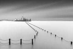 Chained (Neil Burnell) Tags: westonsupermare neil burnell le long exposure fine art somerset wwwneilburnellcom mono monochrome bw