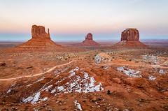 Monument Valley (HikerDude24) Tags: monumentvalley southwest arizona travel nikon d5100 outdoors landscape roadtrip winter sunset sky desert butte