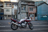 in front of old houses (kasa51) Tags: motorbike motorcycle oldhouse cb400 tokyo japan