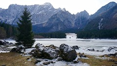 DSC01909 (DSolan) Tags: italy lake fusine nature outdoors green sky clean travel people contrast shadow reflection trees dark light mountain colour minimal europe walk journey hike day