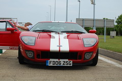Ford GT (D's Carspotting) Tags: ford gt france coquelles calais red 20100613 fd06zsg le mans 2010 lm10 lm2010