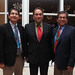 (L-R) Navajo Vice President Jonathan Nez, Lawrence Shorty (Navajo), Program Director USDA 1994 Tribal Land-Grant Colleges and Universities Program and Navajo President Russell Begaye. NNWO welcome reception. Photo by Jared King.