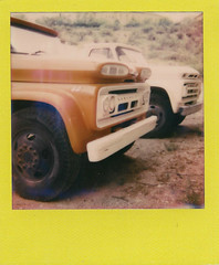 chevys (EllenJo) Tags: arizona chevrolet truck vintage gm chevy trucks 1960s viking polaroid600 june5 generalmotors verdevalley 2015 madeindetroit instantfilm clarkdalearizona zunicks ellenjo colorinstantfilm colorframe ellenjoroberts impossibleproject theimpossibleptroject