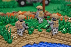 Squad Landing (Tomcat Bobcat) Tags: camera brick modern soldier shot lego military fair soldiers warfare brickarms