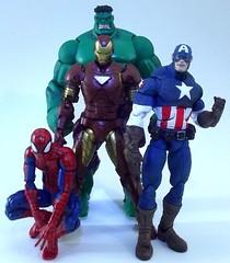 DSCF6773 (Popcornboy20) Tags: comic spiderman ironman actionfigures marvellegends hulk captainamerica avengers hasbro sentinel toybiz marvelselect armorize