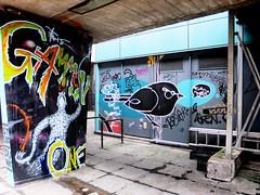 Birds for Dora (Viv Lynch) Tags: city uk england streetart southwest art festival bristol graffiti europe paint downtown unitedkingdom seenoevil british oldcity castlepark nelsonstreet 2011