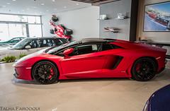 Rosso unknown. (TAF27) Tags: pink red rosso lamborghini riyadh matte roadster ksa aventador lp700