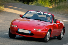 Mazda Miata MX-5 NA (RaceOnTheEdge) Tags: red france car convertible voiture na topdown mazda fr miata draguignan mx5 roadster provencealpesctedazur figanires speedhunters
