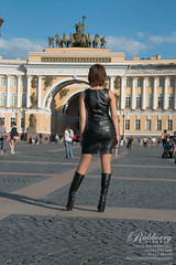 Saint Petersburg.Palace Square.  Feel free to like and share my photos! 1 million kisses kiss wink emoticon Model: Elena Rubberry. See full photo set on http://photo.rubberry.ru Photo & online store http://rubberry.ru #heels #mistress #dominant #fetishmod (Elena Rubberry) Tags: sexy girl leather fetish photography model shiny highheels rubber heels latex saintpetersburg mistress dominant fetisch  fetishmodel    rubberry