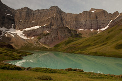 cracker lake + siyeh glacier (ohikura) Tags: montana turquoise glaciernationalpark rockflour manyglacier crackerlake allenmountain siyehglacier mtsiyeh