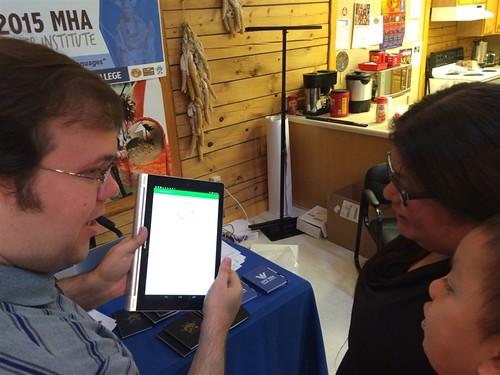 Ryan Kasak explaining Hidatsa Vocab Builder