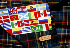 MacLately kilt with an international lining