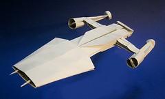 Y-Wing fighter origami : engines improved edition (Matayado-titi) Tags: starwars origami fighter space vehicle spaceship starship starfighter ywing sugamata matayado