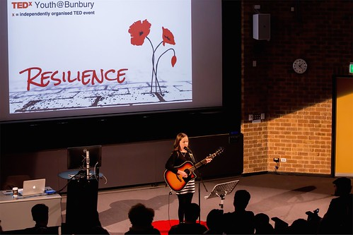 Elavina singing TEDxYouth@Bunbury