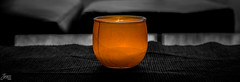 Zen ([ YOANNOLIVIER | Photographie ]) Tags: orange black candle zen flamme bougie