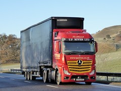 Photo of SF64 KNO - Mercedes-Benz Actros 2545LS - T.P. Niven Ltd., Palnackie, Castle Douglas, Kirkcudbrightshire, Scotland.,
