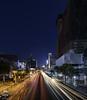 Thanon Ratchadamri (kenneth chin) Tags: verticalpanorama digitalblending skyline road outdoor architrcture night nikon d810 nikkor 1424f28g bangkok thailand city asia lights trail yahoo google