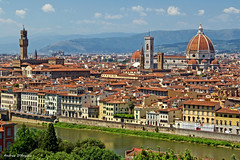 Florence (Darea62) Tags: florence tuscany italy city art firenze town cathedral church travel houses river arno tower roofs