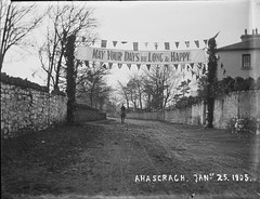 MAY YOUR DAYS be LONG & HAPPY! (National Library of Ireland on The Commons) Tags: theclonbrockphotographiccollection lukegeralddillon baronclonbrock augustacarolinedillon baronessclonbrock dillonfamily nationallibraryofireland greeting banner ahascragh cogalway avenue horse rider stonewalls ridesoffintothesunset wedding williamhenrymahon baronetmahon mahon edithaugustadillon edith