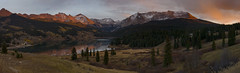 I believe that if one always looked at the skies, one would end up with wings… (ferpectshotz) Tags: troutlake colorado sunset mountains panorama reflections