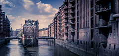 Speicherstadt (RobMenting) Tags: 70d sky eos hamburg building architectuur travel old brick germany city canon europe architecture canoneos70d