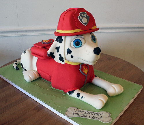 Paw Patrol Sculpted Marshall Cake