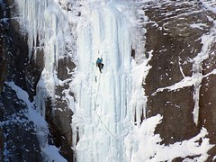 Ice Climbing on Mount Bourgeau (5of7) Tags: iceclimbing mountbourgeau sunshinevillage banff alberta canada banffnationalpark outdoor winter climbing waterfall canadianrockies rockymountains mountain ice 5fav fav extreme sport snow
