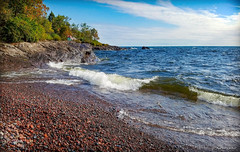 Lamb's Shoreline (WOODSHED Revisited) Tags: lake superior shore shoreline minn minnesota mn great lakes scenic highway 61 us route schroeder lambs resort campground rocky
