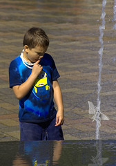Seeing Things (Scott 97006) Tags: hallucination kid boy water wet fountain fairy mind imagination surreal unreal wonder perplexed believe belief reflection
