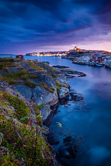 Blue Hour at Marstrand 2 (I. D.) Tags: bluesky reise bluehour sverige karlstensfästning carsten travel schweden bohuslän longexposure sweden skandinavien marstrand skagerrak västragötalandslän 2015