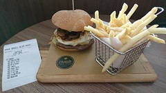 Customised burger from McDonald's Singapore! (benhosg) Tags: burger mcdonalds fries