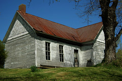 Farmhouse (~ Lone Wadi ~) Tags: shadygrovekentucky farmhouse crittendencounty kentucky rural farmcountry bluegrassstate quiet empty abandoned lonesome tinroof