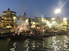 Cremation Pyres (Mary Faith.) Tags: varanasi cremation pyres ghats fire death burn steps crowd religious india hindu rites explore river ganges ghat manikarnika funeral mass lastrites puja chant mantra ritual