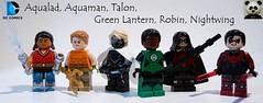 Aqualad, Aquaman, Talon, Green Lantern, Robin & Nightwing (Random_Panda) Tags: lego figs fig figures figure minifigs minifig minifigures minifigure purist purists character characters comics superhero superheroes hero heroes super comic book books films film movie movies tv show shows television dc green lantern robin nightwing talon aquaman aqualad