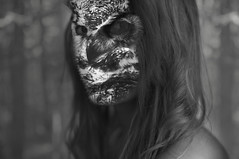 20/365 (Ell@neese) Tags: girl woman face owl manipulation portrait people idea creative odd photography photoshop 365