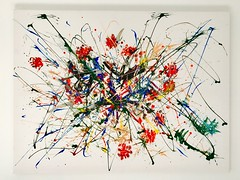 Abstract Wall Art (Cathy Raft) Tags: abstract art colours painting splash wall strokes colourful color