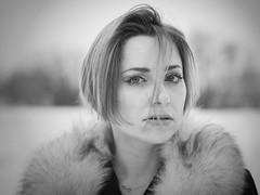 ... (poison_83) Tags: polishgirl polishmodel polish portrait podlasie wwwinstagramcompoison83 woman winter blackwhite bw blackandwhite fur shorthair bigeyes emotions elegant