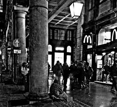 """Real_Life Abstract Street"" (giannipaoloziliani) Tags: monocromatico monochrome persone people blackandwhite biancoenero street streetphoto streetphotography urban urbanstreet urbanlife streetlife hdr contrasto contrast astratto abstract centro centre downtown walk walking camminando città city liguria italia italy genova genoa genoacity arcades notte night streetnight streetblackandwhite urbannight urbanblackandwhite shops negozi portici viaxxsettembre life citylife citynightlife citylive streetlive reallife real reportage difference hard dark darkness strange strong black noire nero forte buio luci ombre shadows light obscure oscuro scuro nikon nikoncamera flickr report nikonphotography nikonphoto"