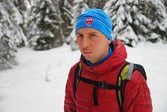 Потртрет Коли. Наверное, он вспомнил о лыжах и Ромашково..