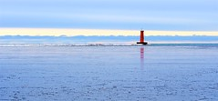 Lighthouse in Winter 3 (imageClear) Tags: lighthouse winter cold sheboyganlighthouse sheboygan wisconsin landscape pier northpier sky icy harbor aperture nikon d500 80400mm beauty nature imageclear flickr photostream