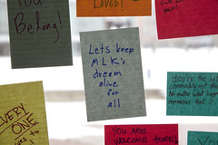 013117_immigration post-its_03 (Michigan Engineering) Tags: annarbor usa faculty students staff community togetherness window day 2017 duderstadt northcampus international inclusion umich michigan michiganengineering collegeofengineering um wolverines diversityequityinclusion horizontalframing support internationalstudents